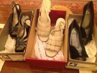 3 pair of ladies shoes size 5