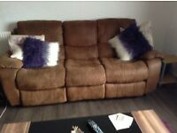 Two and thrEe seater reeling sofa,s