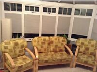 Conservatory three piece suite