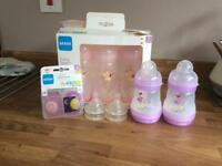 Set of Mam bottles great condition barely used