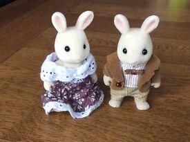 Sylvanian White Rabbit Grandparents