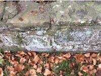 Vintage large garden stone walling