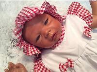 BEAUTIFUL ETHNIC REBORN BABY LEONA, CELINE SCULPT BY EVELINA WOSNJUK
