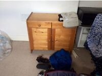 IKEA MALM double bed frame, small cabinet, 2 chests of drawers , 1 shelved cupboard