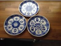 Ringtons blue plates
