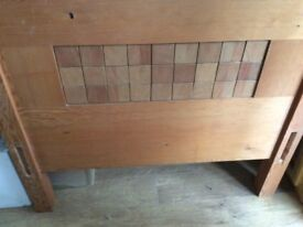 Handmade solid oak single bed