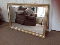 Guilt Framed Pilkington Mirror