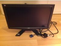 Acer monitor 18.5 inch screen with VGA cable