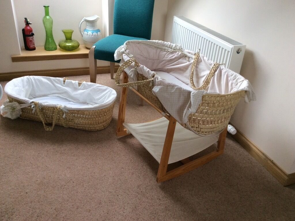 Baby Moses basket, bath and sling free to good home | in Banchory ...