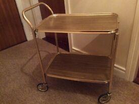 2 tier wheeled tea trolley