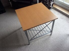 Maple/chrome coffee table.