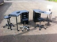 Nail bar units and stools