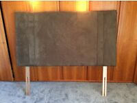 King size Chocolate Brown faux suede headboard. New condition