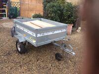 Small light trailer - galvanised and with adjustable jockey wheel