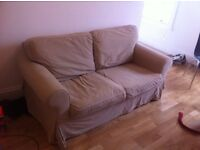 *FREE* IKEA 2 SEATER EKTORP SOFA - Beige covers - must collect on Saturday 10 December