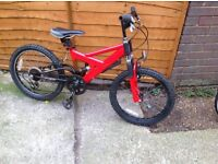 Childs Raleigh Dual Suspension MTB 6 sp.(age 5-8