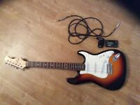 Eleca Electric Guitar with tuner and headphone amp