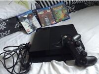 PS4 3 games with controlla/power cable/HDMI/charger