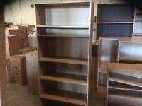 Oak Five Shelf Bookcase