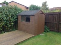 Garden shed and decking