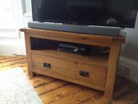 Solid Oak TV Corner Unit