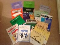 Selection of 14 piano music books