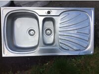 Used metal Kitchen sink