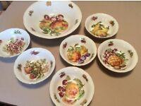 Vintage china dessert set