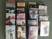 A selection of vhs video tapes mostly musicals and music and some films