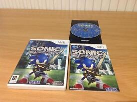 NINTENDO WII - SONIC AND THE BLACK KNIGHT - LIKE NEW