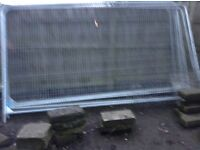 Eight Harris fencing panels second hand good contion