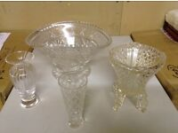 Crystal & cut glass home wares.