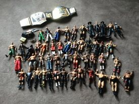 WWE 50 figures and accessories
