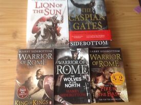 5 Harry Sidebottom Books From The Warriors Of Rome Series - See Description For More Details