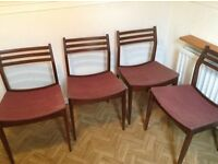 4 dining chairs - retro style