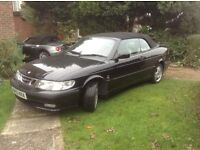 2003 Saab convertible, low mileage, 5 months MOT, good condition