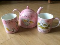 Whittards teapot and mugs
