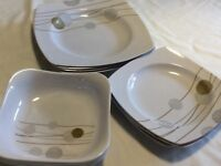 Melamine plates and dishes. Set of twelve.