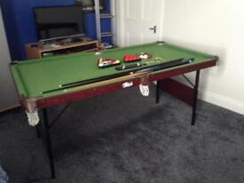 Snooker/Poole table with accessories