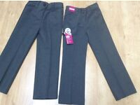 New with tags, 2 pairs of girls school uniform trousers, age 6, TU