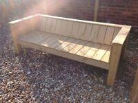 Solid Wooden Garden Bench