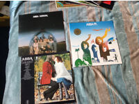 Acollection of 3 ABBA lps