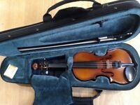 1/8 size Primavera 200 violin, bow and case, excellent condition