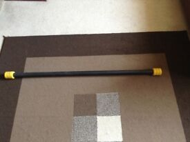 Weighted exercise bar 7kg