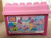 Mega bloks adventure playhouse 60 piece tub
