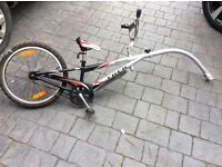 Tow along bike trailer. Excellent condition. No rust. Selling for bargain price of £40