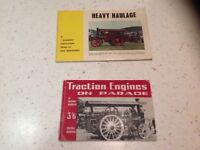 Steam traction engine heavy haulage books x 2