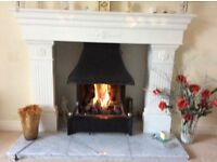 Gas fire with ceramic coals