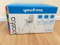 YOU AND ME PASTA Highchair new