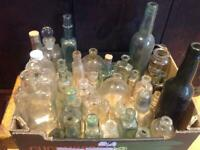 Collection of small chemist, scent and glass bottles